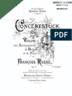 Concertstuck Francois Rasse