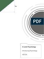 Study Unit 1 - Introducing Psychology (40510A)