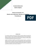 Relación Entre La Estructura Molecular y La Solubilidad