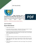 Peneriman Calon Praja IPDN Tahun 2015-2016