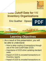 COst Cutoff Date for 11i Inventory