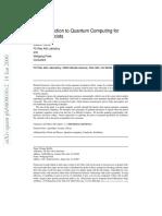 Intro to Quantum Computing