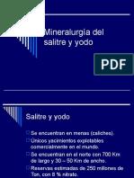 Mineralurgia Del Salitre y Yodo