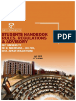 NIIT University handbook