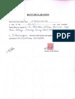 Rent Declaration