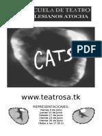 Programa de Mano Cats