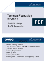 Technical Foundation - Inventory