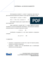 APOSTILA - Expansão Isotérmica - Lei de Boyle-Mariotte