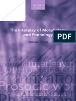 Sharon Inkelas-The Interplay of Morphology and Phonology-Oxford University Press (2014)