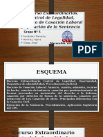 Derecho Procesal Del Trabajo Recurso de Control de Legalidad, Recurso de Casación Laboral, Ejecución de Sentencia.