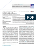 Current Trends and Future Perspectives of Solid Dispersions Containing Poorly Water Soluble Drugs