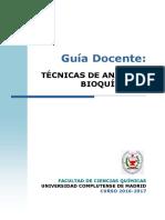 Guia docente Tecnicas Analisis Bioquimico