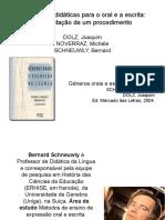 Docslide.com.Br Sequencias Didaticas Para o Oral e a Escrita Apresentacao de Um Procedimento Dolz Joaquim Noverraz Michele Schneu