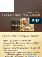 Crisis and Absolutism 1550-1715