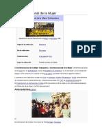 Día Internacional de La Mujer.-wikipediadocx
