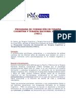 Información Programa de Formación Psicoterapeuta.