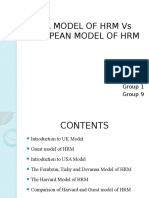 Usa Model of Hrm vs European Model Of Hrm
