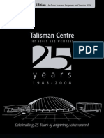 Talisman Centre 25th Anniversary Book