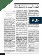 Licencia Por Maternidad y Paternidad Sector Publico y Privado