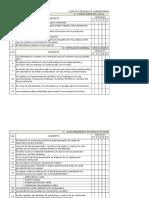 Lista de chequeo de Laboratorio (básico)