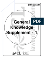 General Knowledge Supplement - 1