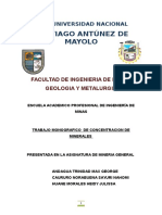 Monografia Concentracion de Minerales-mineria General