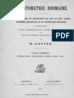 Chrestomatie română - Texte tipărite şi manuscrise [sec. XVI - XIX], dialectale şi populare. Volumul 1 - Introducere, gramatică, texte [1550-1710]