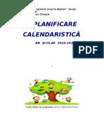 Planificare Clasa pregătitoare  2016/2017