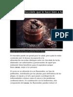 El Chocolate Que Le Hace Bien a Tu Salud