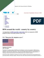 BIM Use Around the World