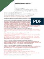 Métodos y Técnicas de Investigación Científica II Preguntas