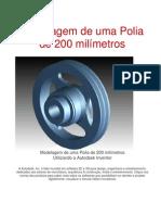 Modelagem de uma Polia de 200 milímetros