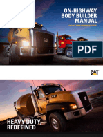 CAT CT660 Vocational Truck Body Builder Manual