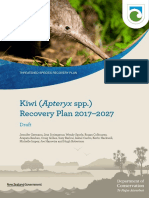 Consultation Draft Kiwi Recovery Plan 2017-2027