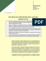Tp 1263 Encuesta de Corrupcion 2016 Alza No Significativa