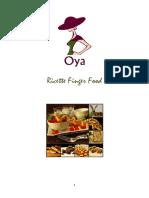 Ricette Finger Food RICETTARIO