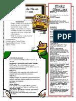 3rd grade newsletter october 3-7