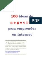 Anon - 100 Ideas De Negocios Para Emprender En Internet