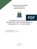 Trabalho de Direitos Humanos - Grupo 4 (Direito Do Idoso) - Conclusão Individual de Marianna Féres Boroto