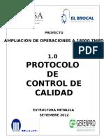Documents.mx Setiembre 2012 10 Protocolo de Control de Calidad Estructura Metalica Proyecto