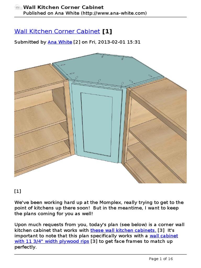 planos para gabinete esquinero de madera | Cabinetry | Plywood