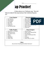 Regions Test Map Practice 2016