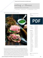 Recipe - Herb Crusted Leg of Lamb With Mint Gremolata