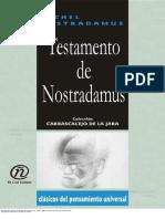 Testamento de Nostradamus