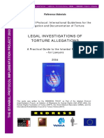 Legal Investigations of Torture Allegations - A Practical Guide to the Istanbul Protocol