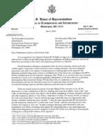 Oberstar-Nadler Letter to EPA, OSHA