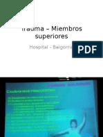 Trauma – Miembros superiores.pptx