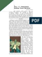 Orchid Nomenclature