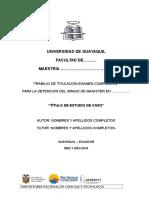 Ute Formato Presentación Examen Complexivo