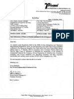Submission of Notice of Petition published in the newspapers [Company Update]
